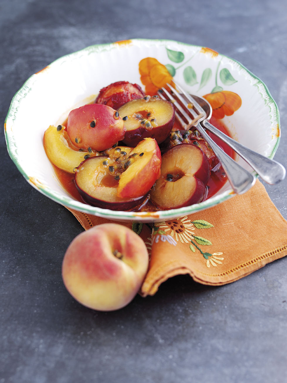 Poached South African Stone Fruit in Passion Fruit Syrup | Cost Sector ...