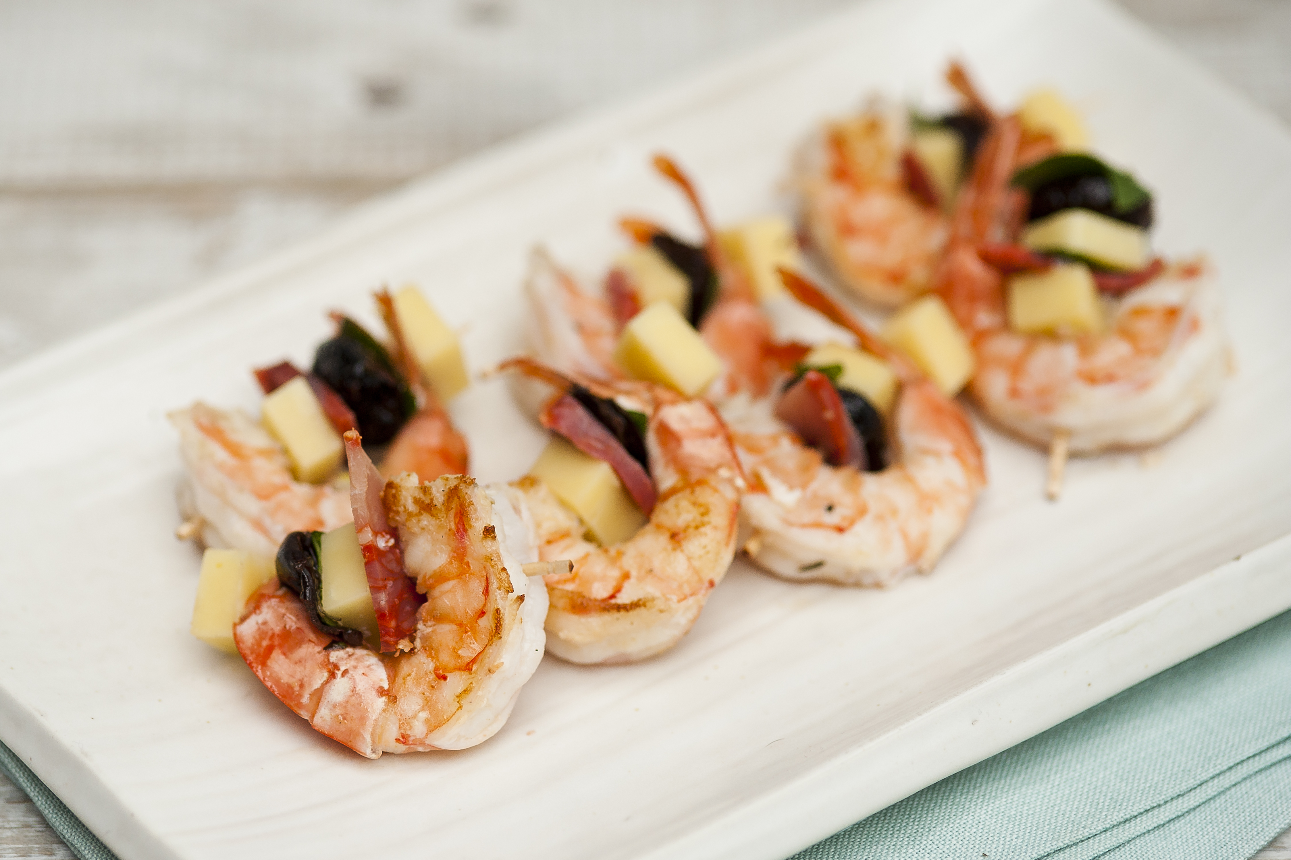 Tiger prawns, chorizo and Orkney cheddar | Cost Sector Catering