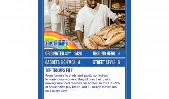 top trumps car game key workers food service