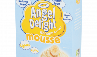 Angel Delight banana flavoured mousse