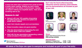 Public Sector Catering Expo doors open in two weeks