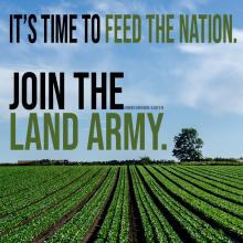 land army farms food supply shortages